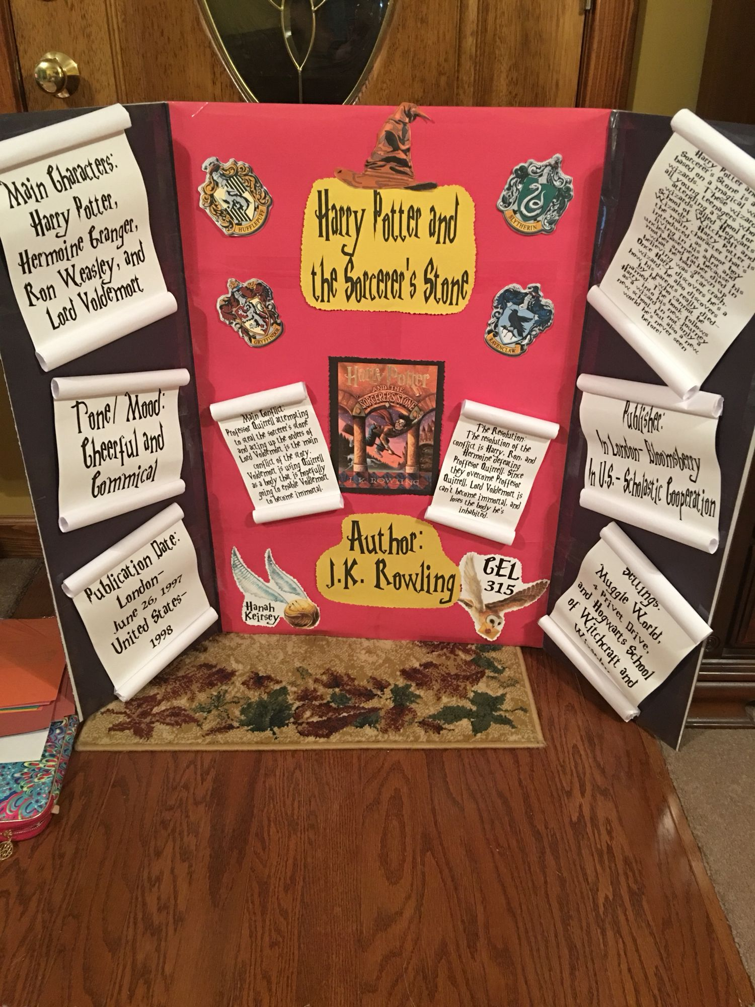 Harry Potter And The Sorcerer Stone Book Report