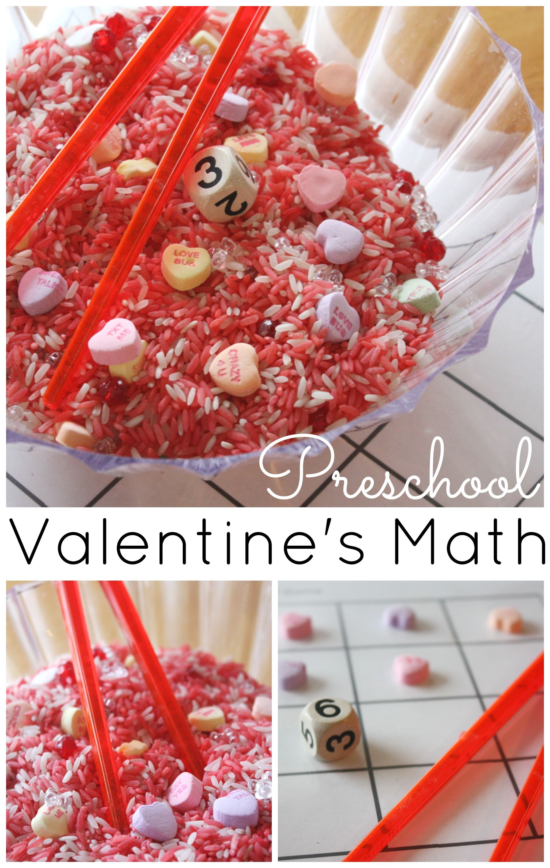 Heart Math Counting Game Preschool Valentine S Day