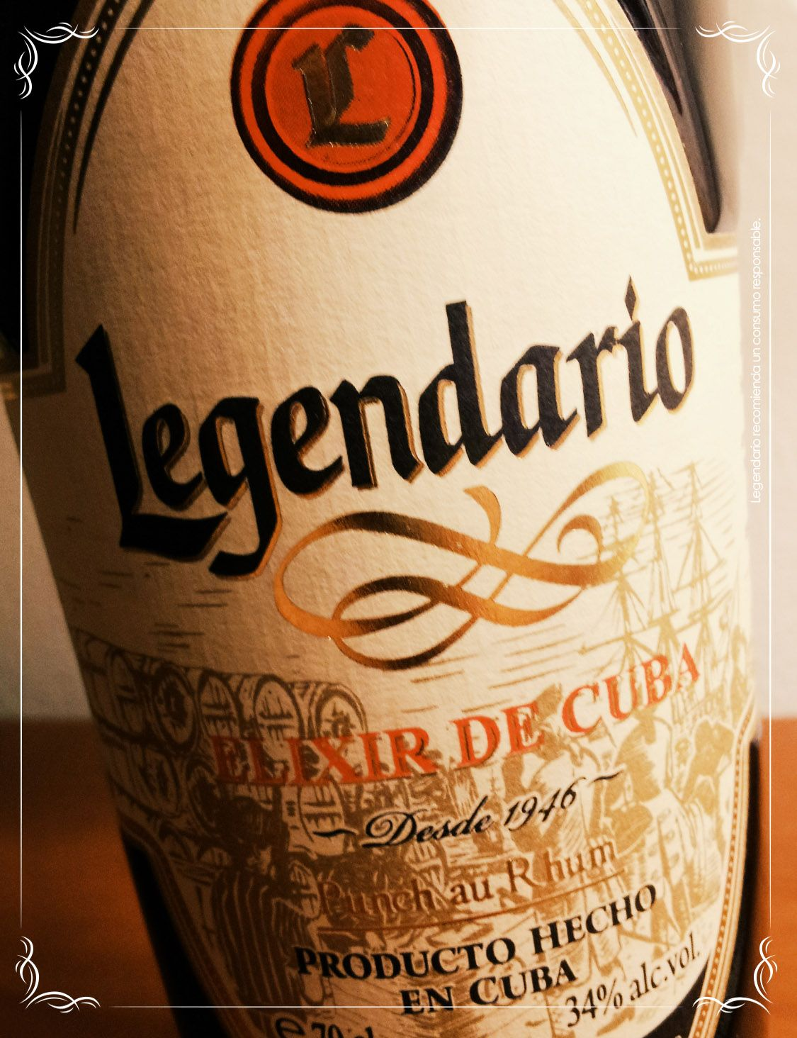 Elixir Legendario, sabor Legendario de origen cubano! Ron