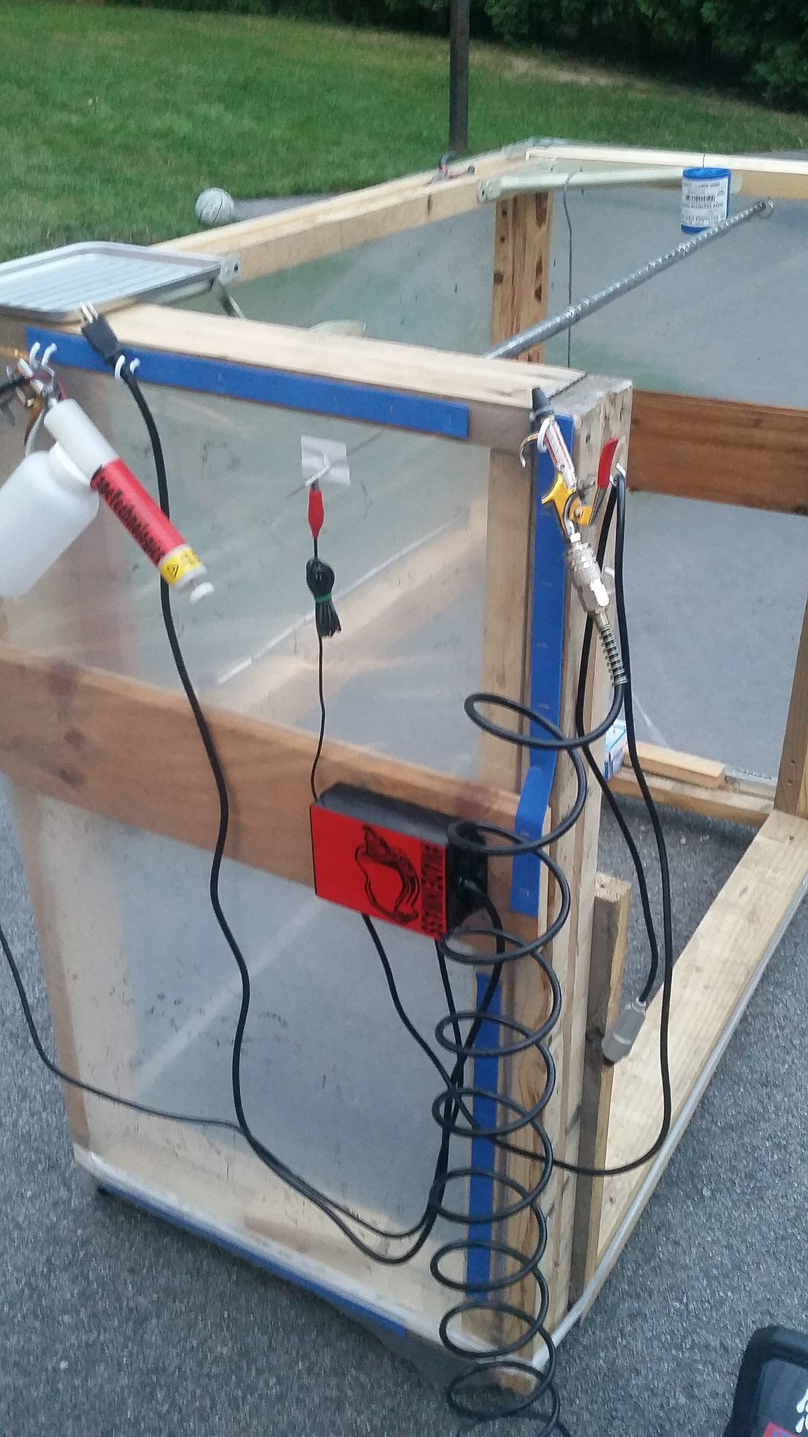 DIY Powder coating spray booth. Learn to powder coat at