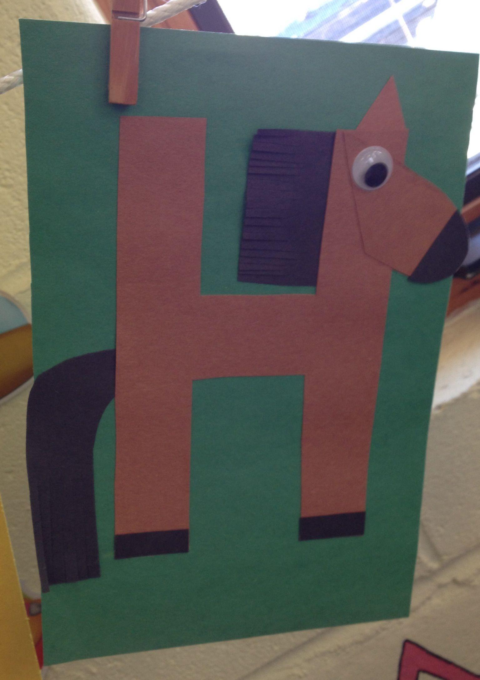 Preschool Letter H Craft