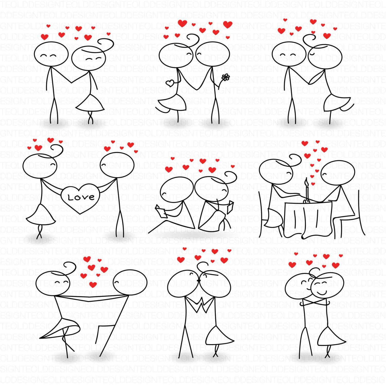 Stick Figure Clipart Clip Art Love Stick People Couple
