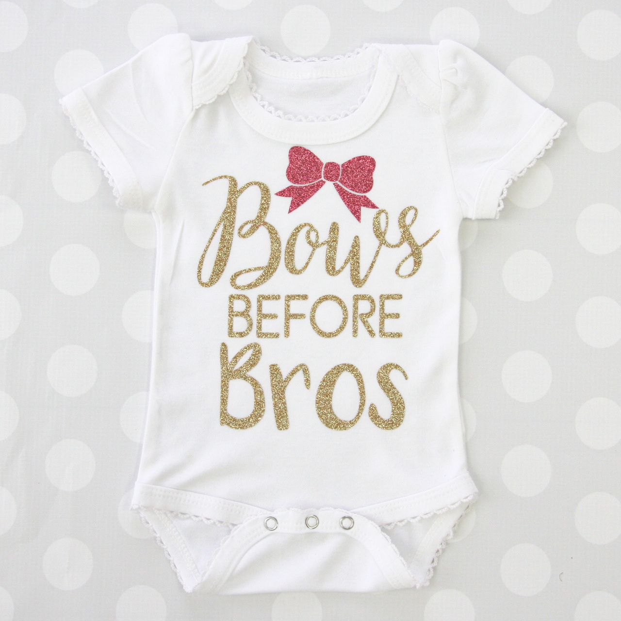 Bows before Bros Baby Bodysuit Onesie, Gift and Cricut