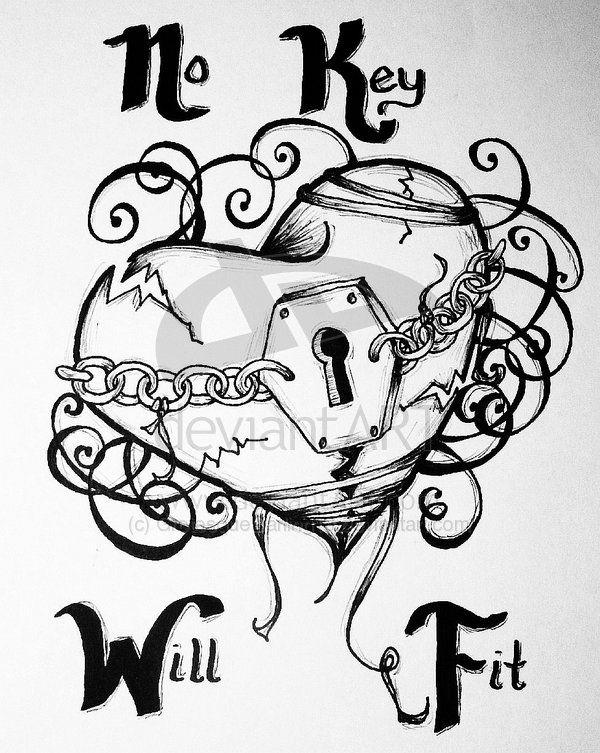 My Locked Heart No key will fit ever again! Tattoos