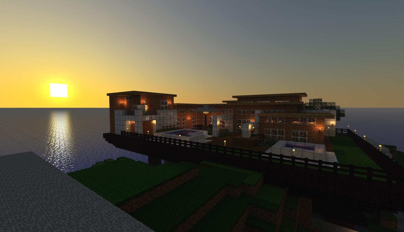 Modern Beach House Minecraft Amp Terraria Pinterest