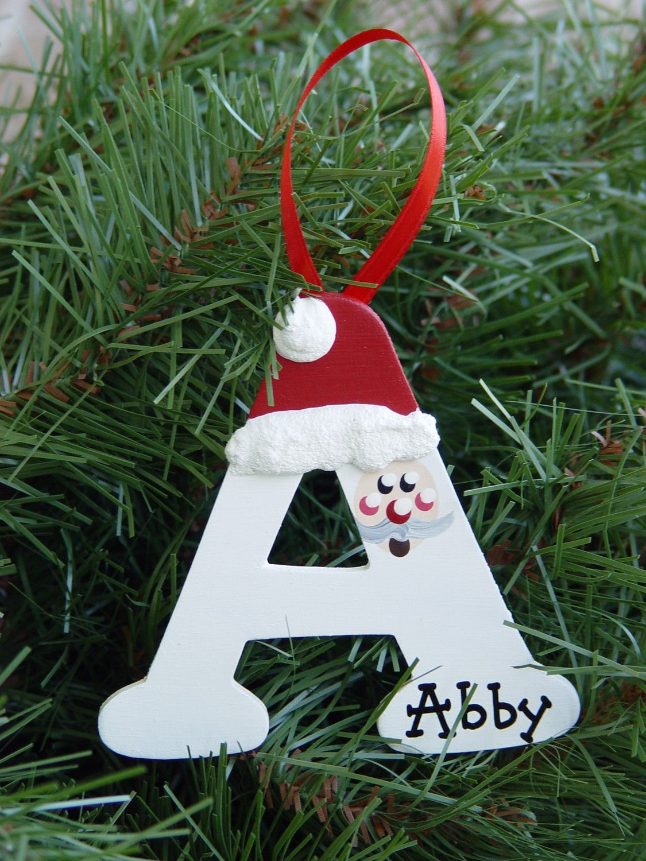 Personalized Santa letter ornaments Personalised santa