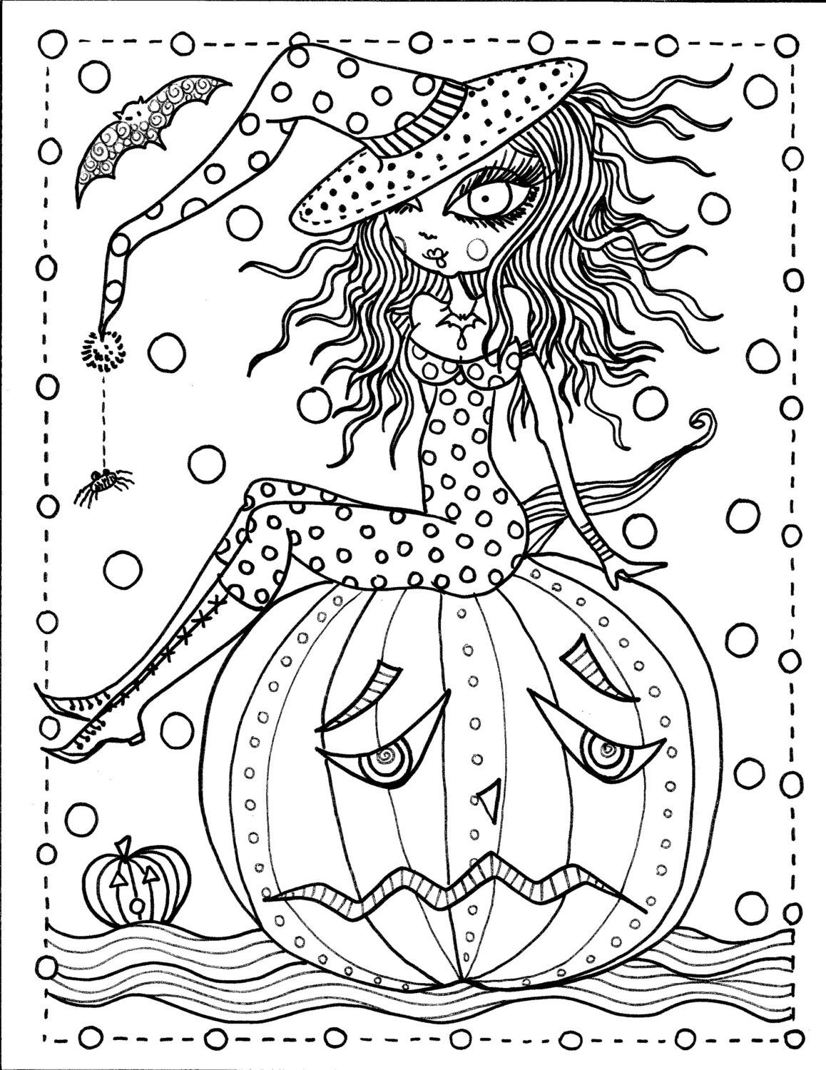 Instant Download Halloween Coloring pages Art to от