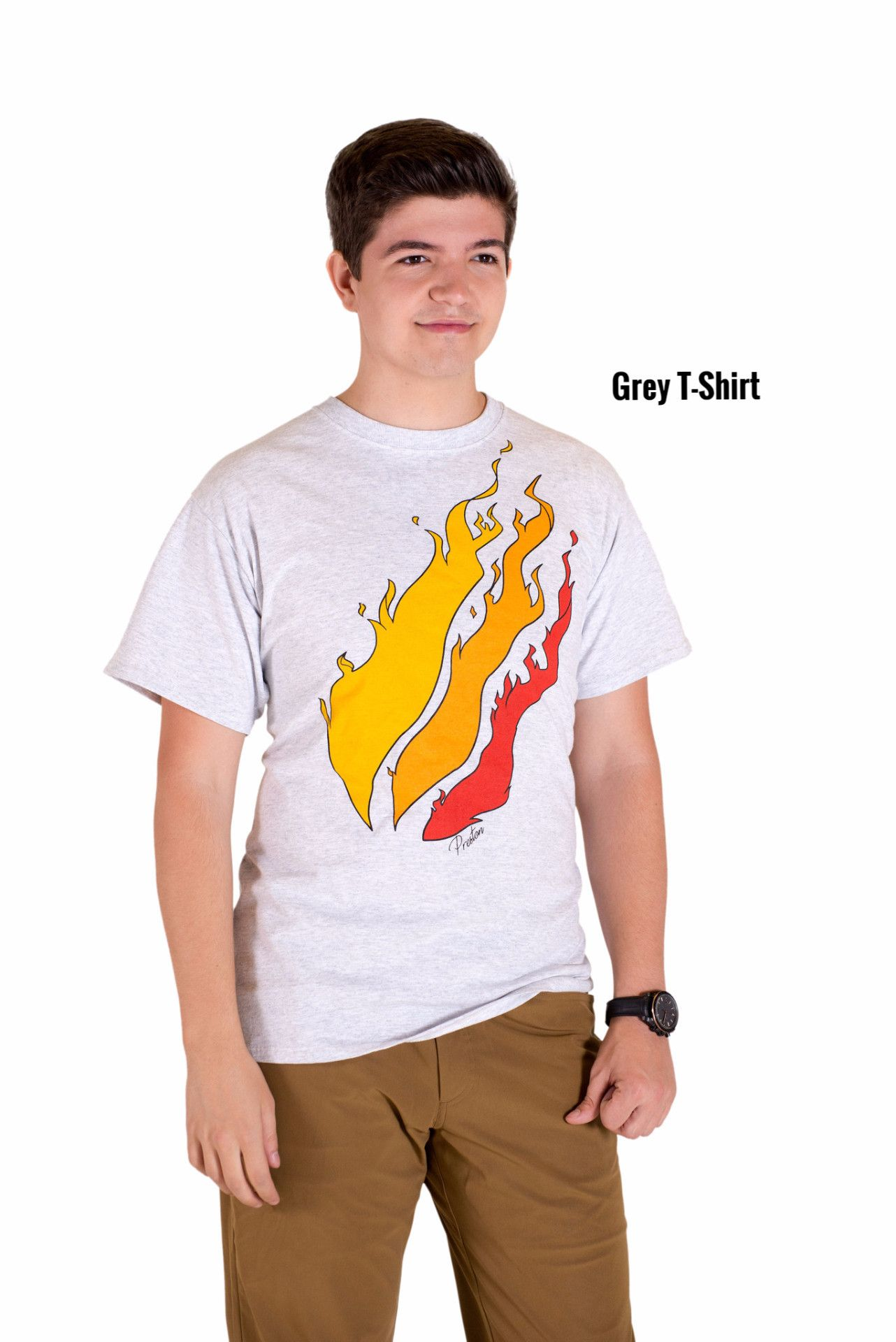 """Fire"" TShirts (White/Black/Gray/Tan) Preston"