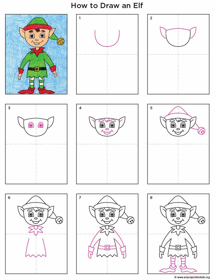 How to draw an Elf. PDF tutorial available.