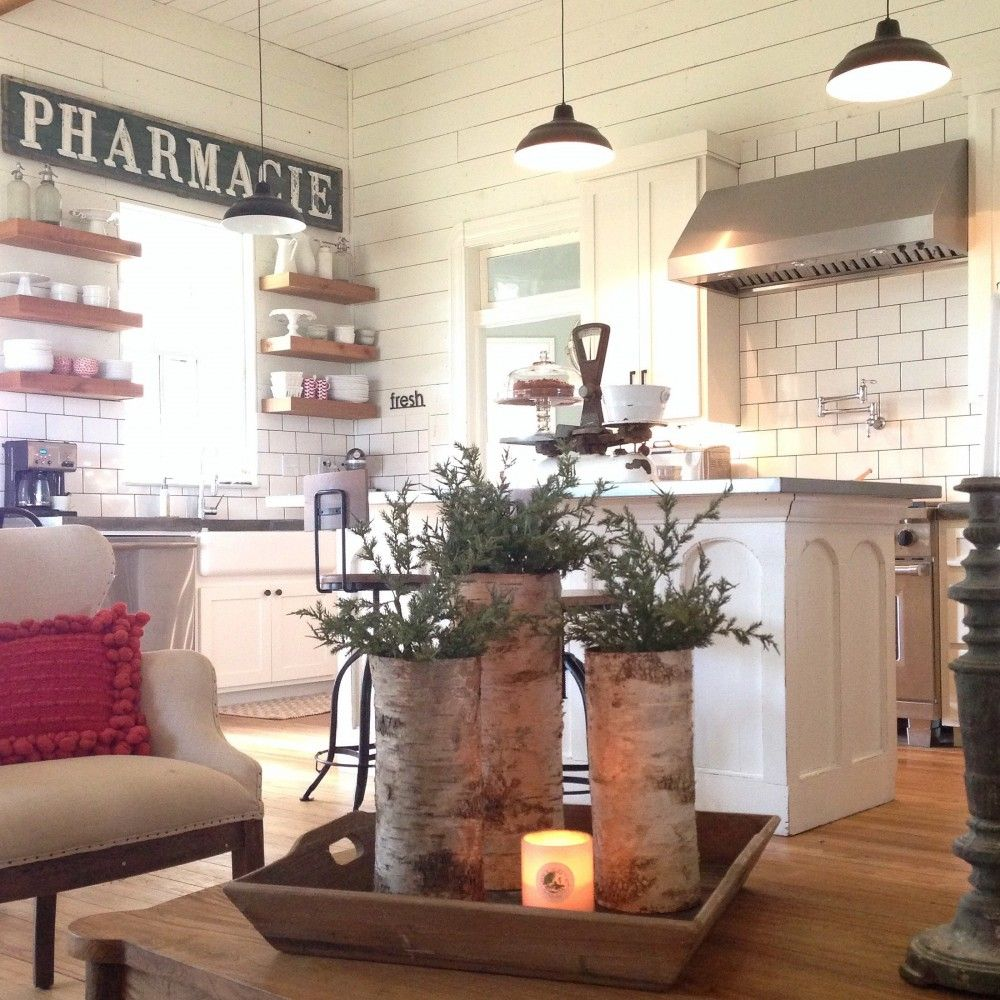 At Home A Blog by Joanna Gaines Ship lap, Subway tiles