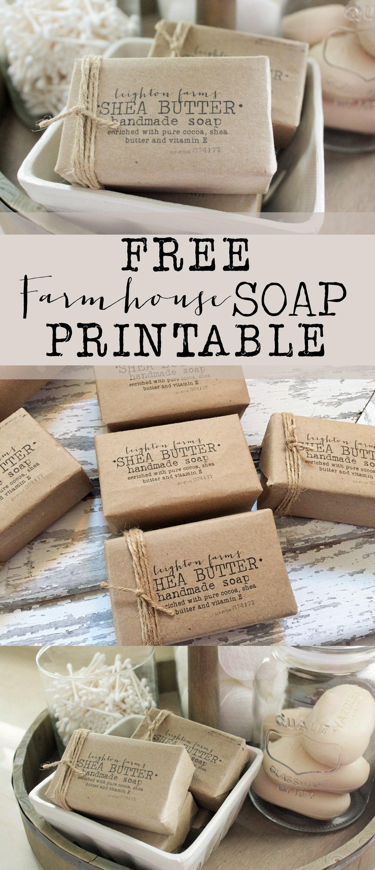 FREE Farmhouse Soap Printable House of Hargrove Make