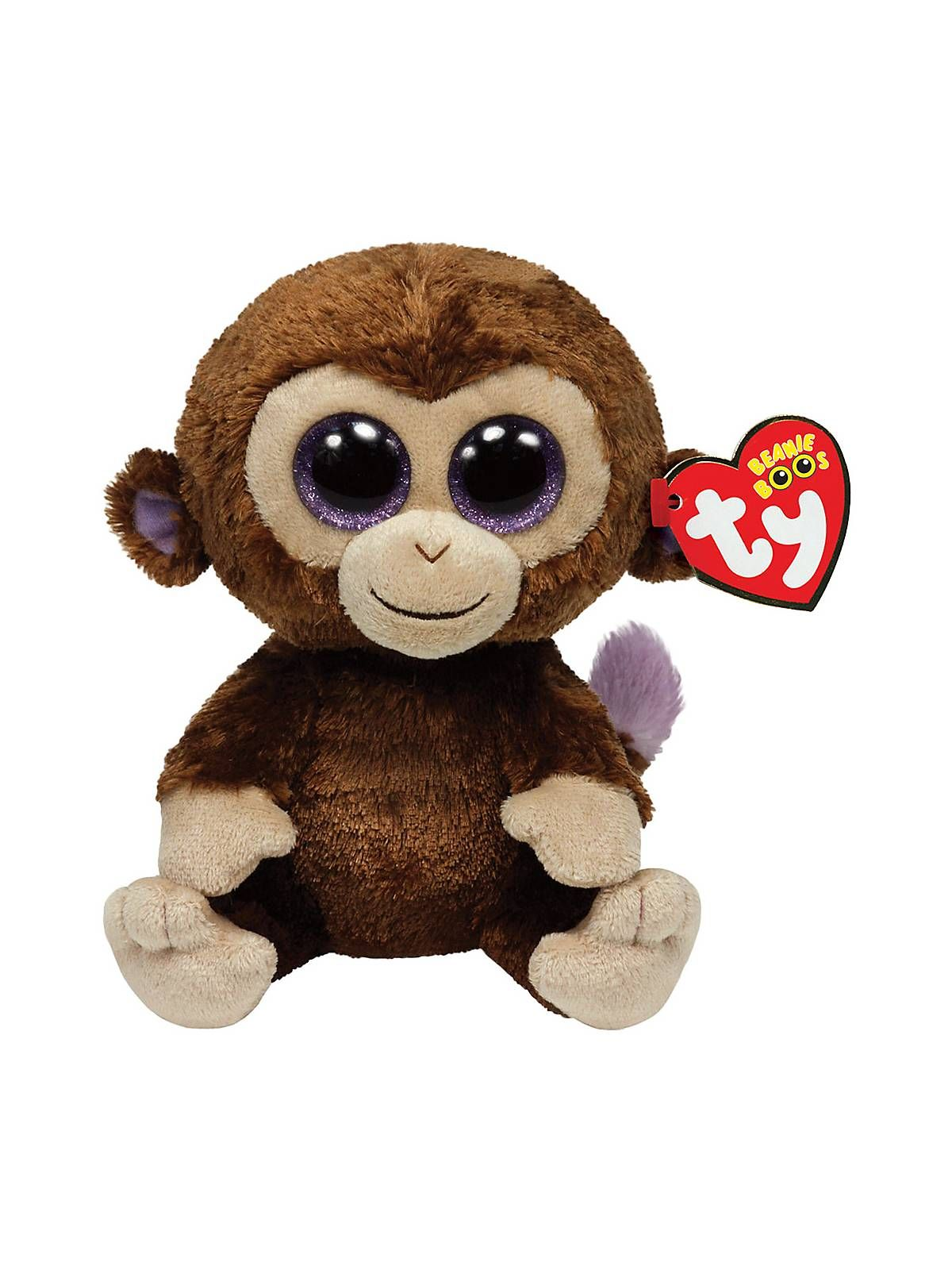 """Coconut The Monkey 6"""" Ty Beanie Boo All Parties"""