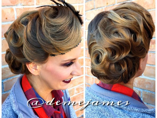 created this #updo for her roaring 20's #theme #birthday #party
