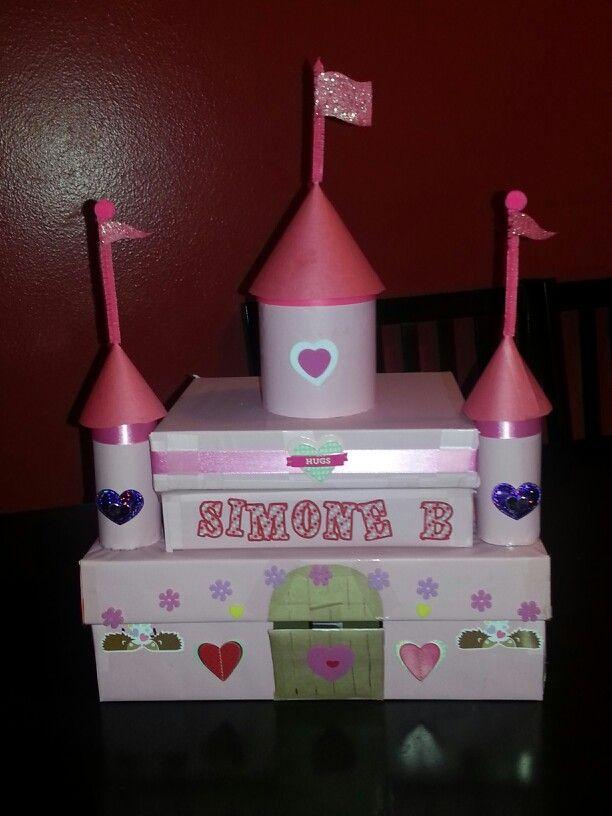 Simones Castle Valentine Day Card Box Valentine Day