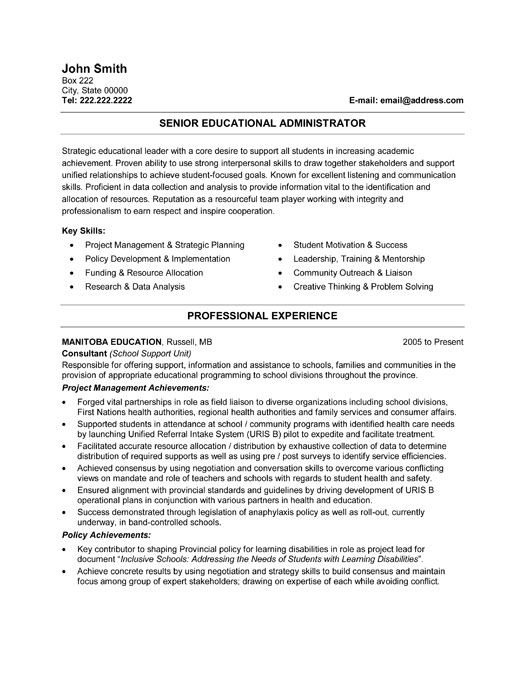 resume example business