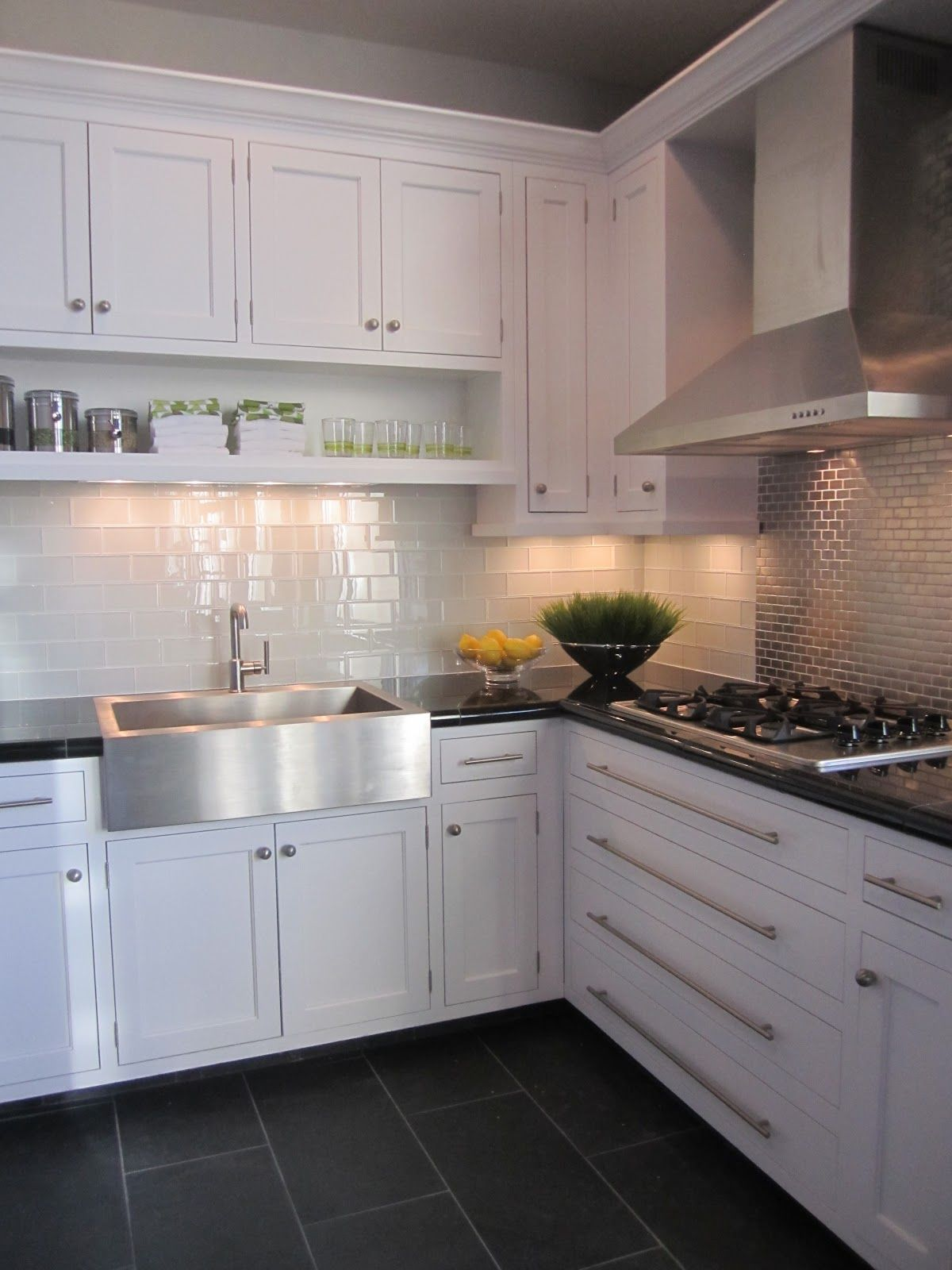 Kitchen White Dark Grey Floor Tiles Lovely