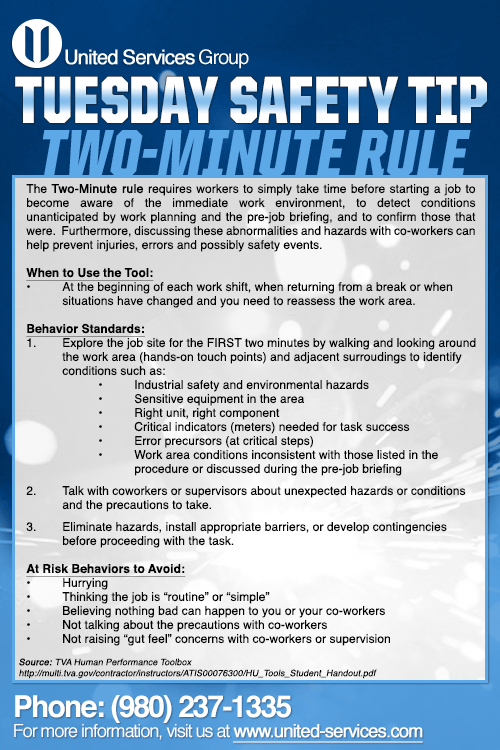 This week's Tuesday Safety Tip is about the TwoMinute