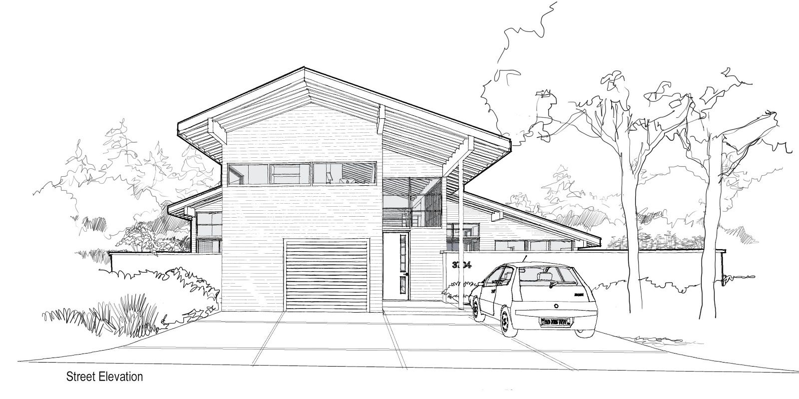 Modern Home Architecture Sketches Decorating
