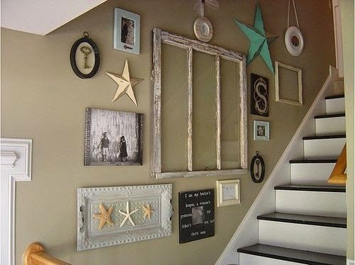 Creative Staircase Wall Decorating Ideas, Art Frames