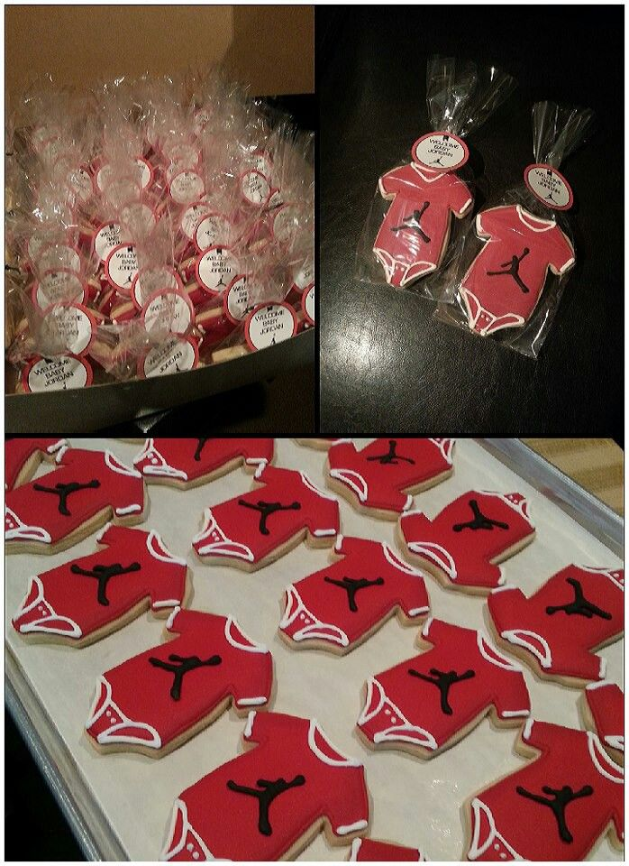 Baby Jordan cookies..could change logo Party Ideas