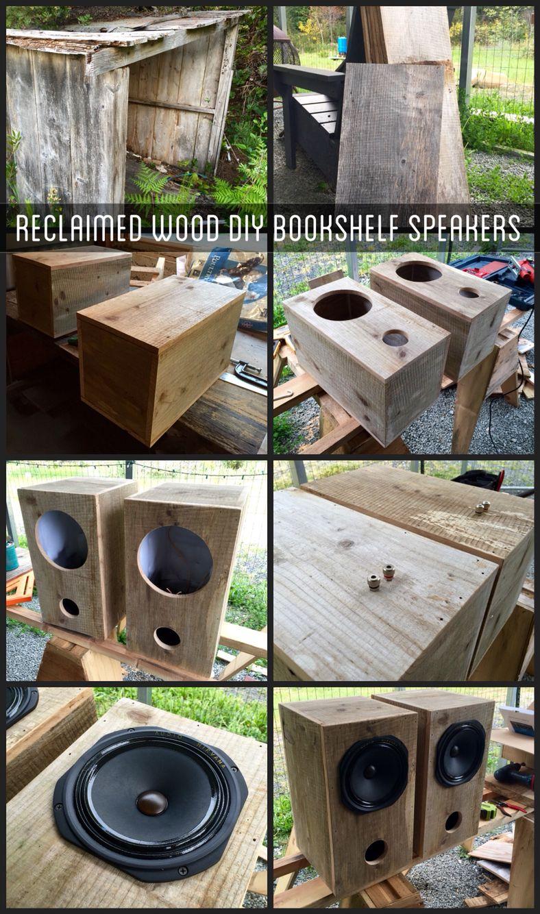 DIY Bookshelf speakers using reclaimed shed wood! Speakers