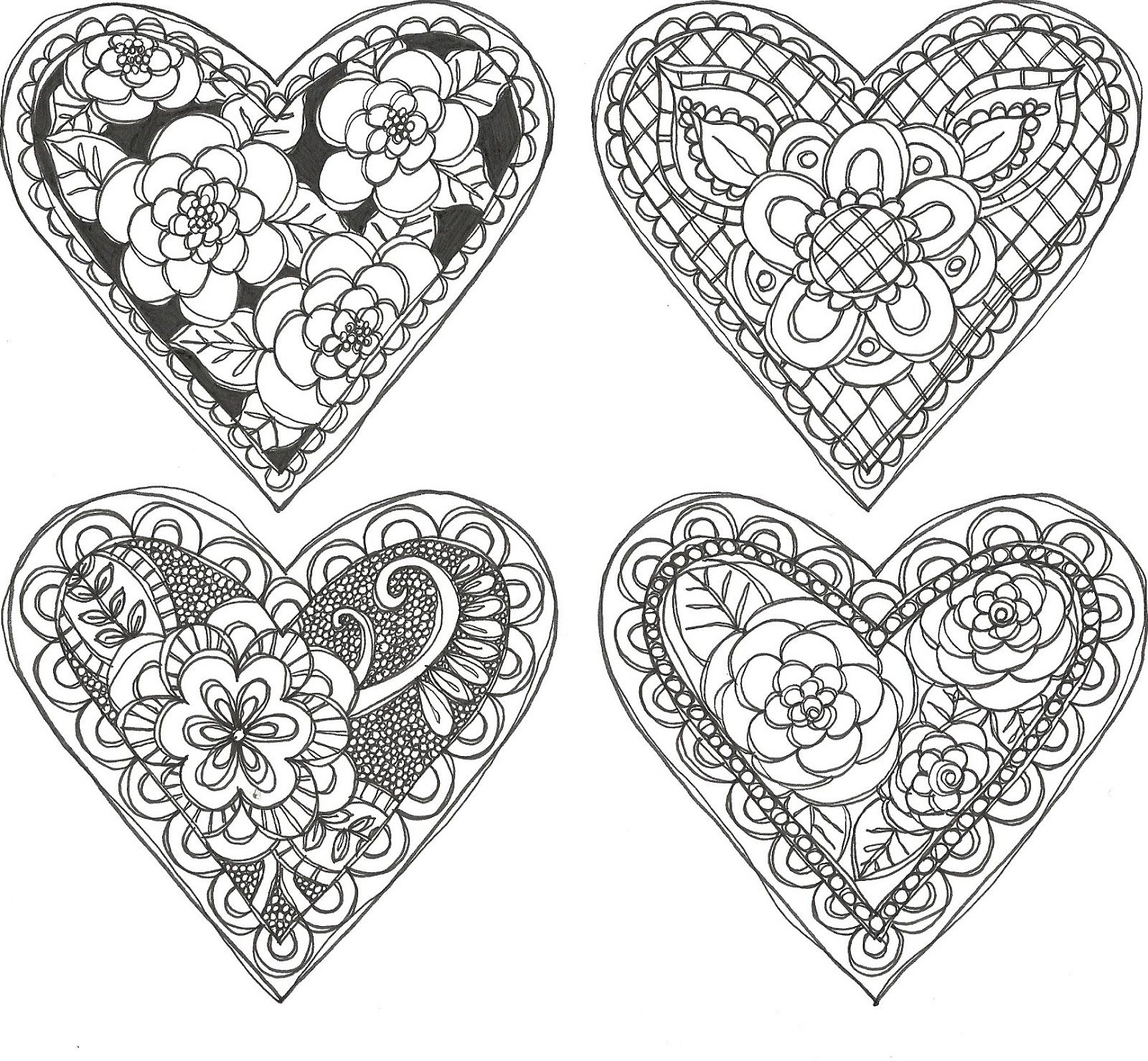 Free Printable For Doodle Valentines Just Print And Color