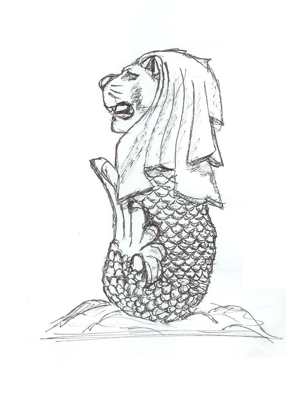 Merlion Coloring Pages