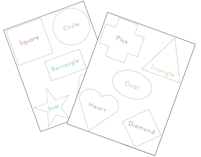 Tracing Shapes Worksheets