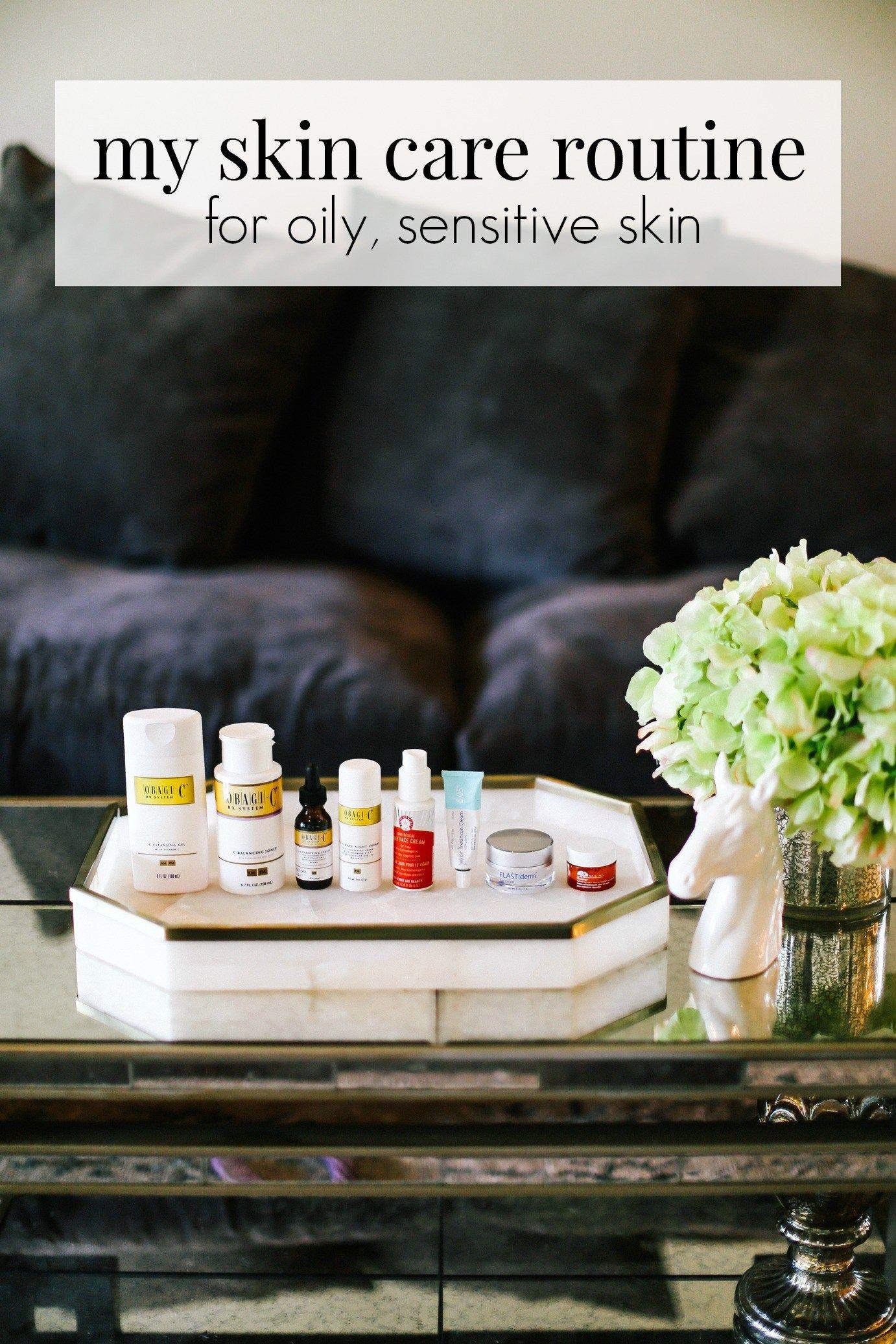 my skin care routine Sensitive skin