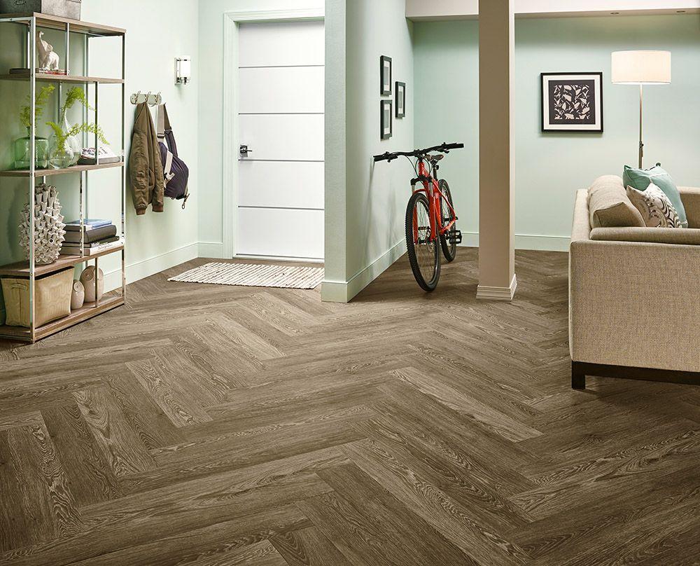 Armstrong Luxury Vinyl Plank Flooring LVP Herringbone