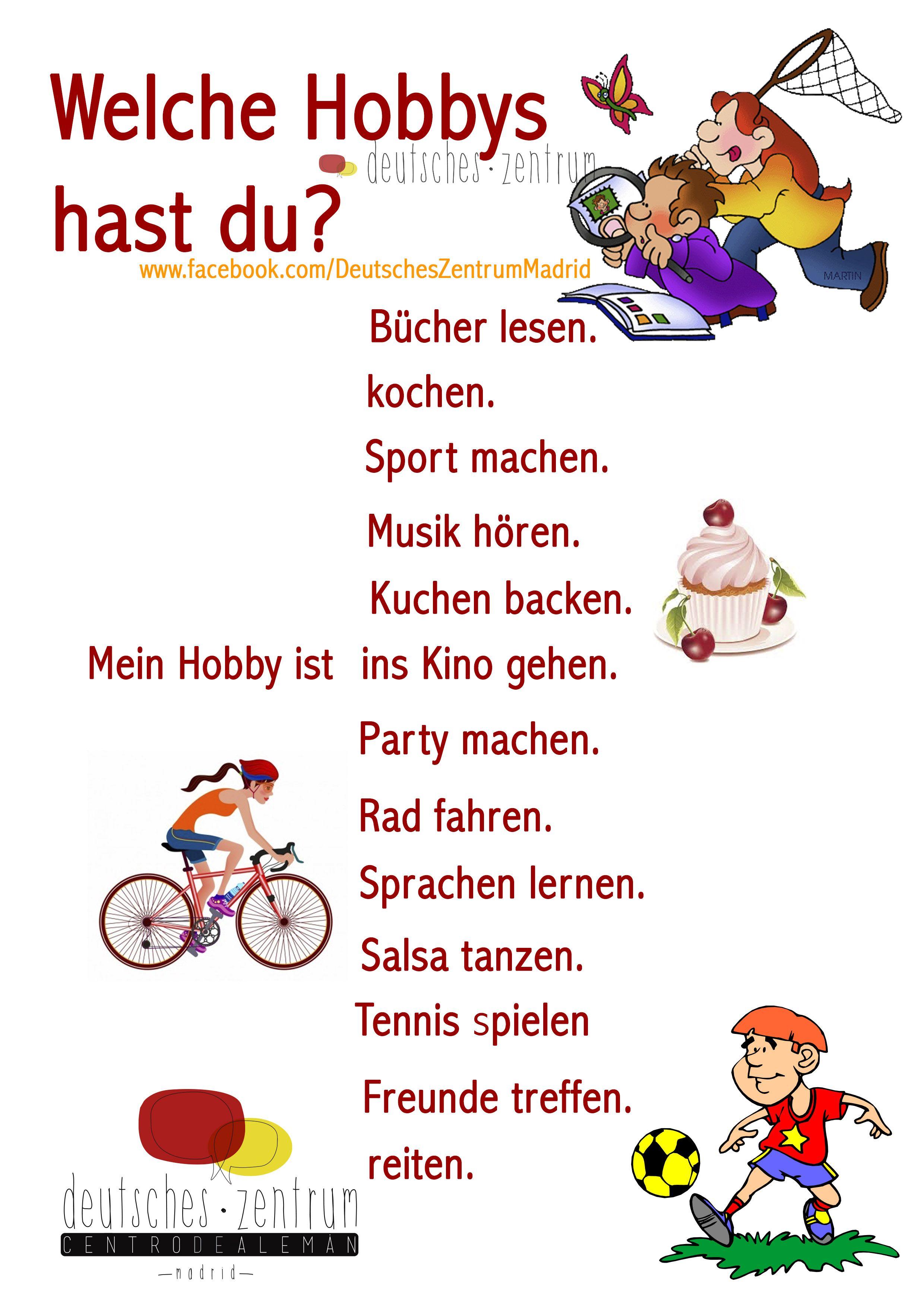 Hobbys Deutsch Wortschatz Grammatik Aleman Vocabulario
