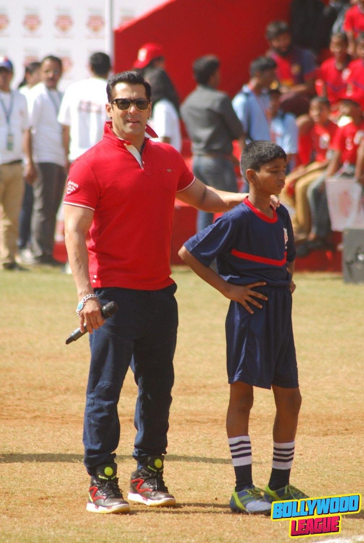 Salman Khan with Nita Ambani at the launch of Young Champs