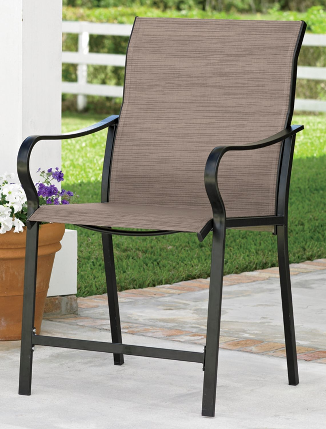 ExtraWide HighBack Patio Chair Extra Wide Portable