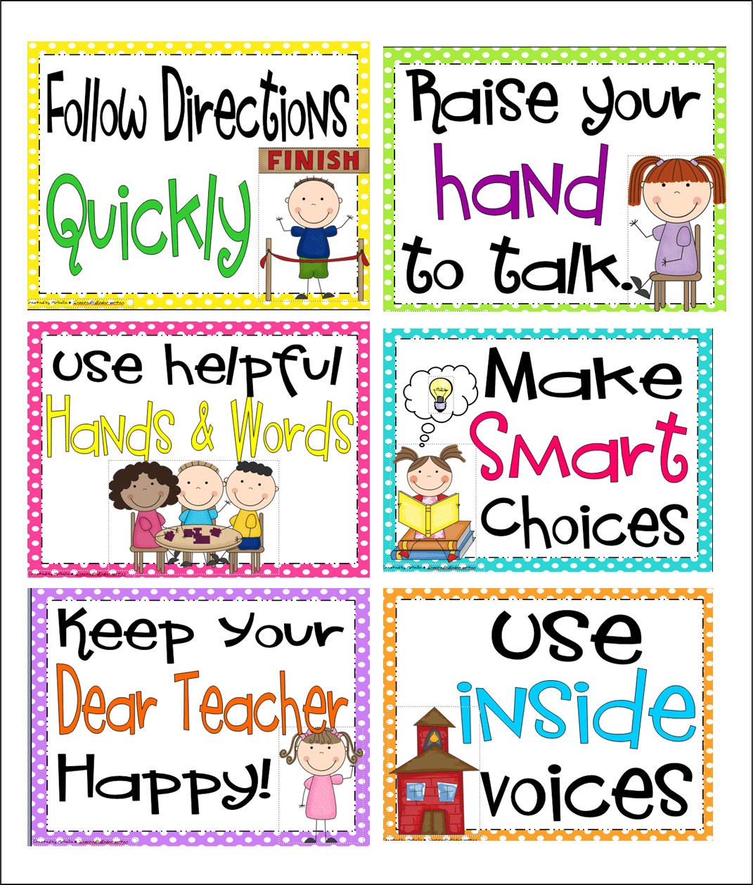 Inspired By Kindergarten Behavior Charts S What I