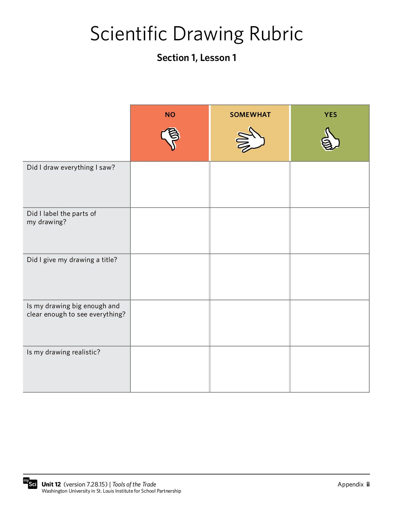 Freebie This Scientific Drawing Rubric Will Help Young