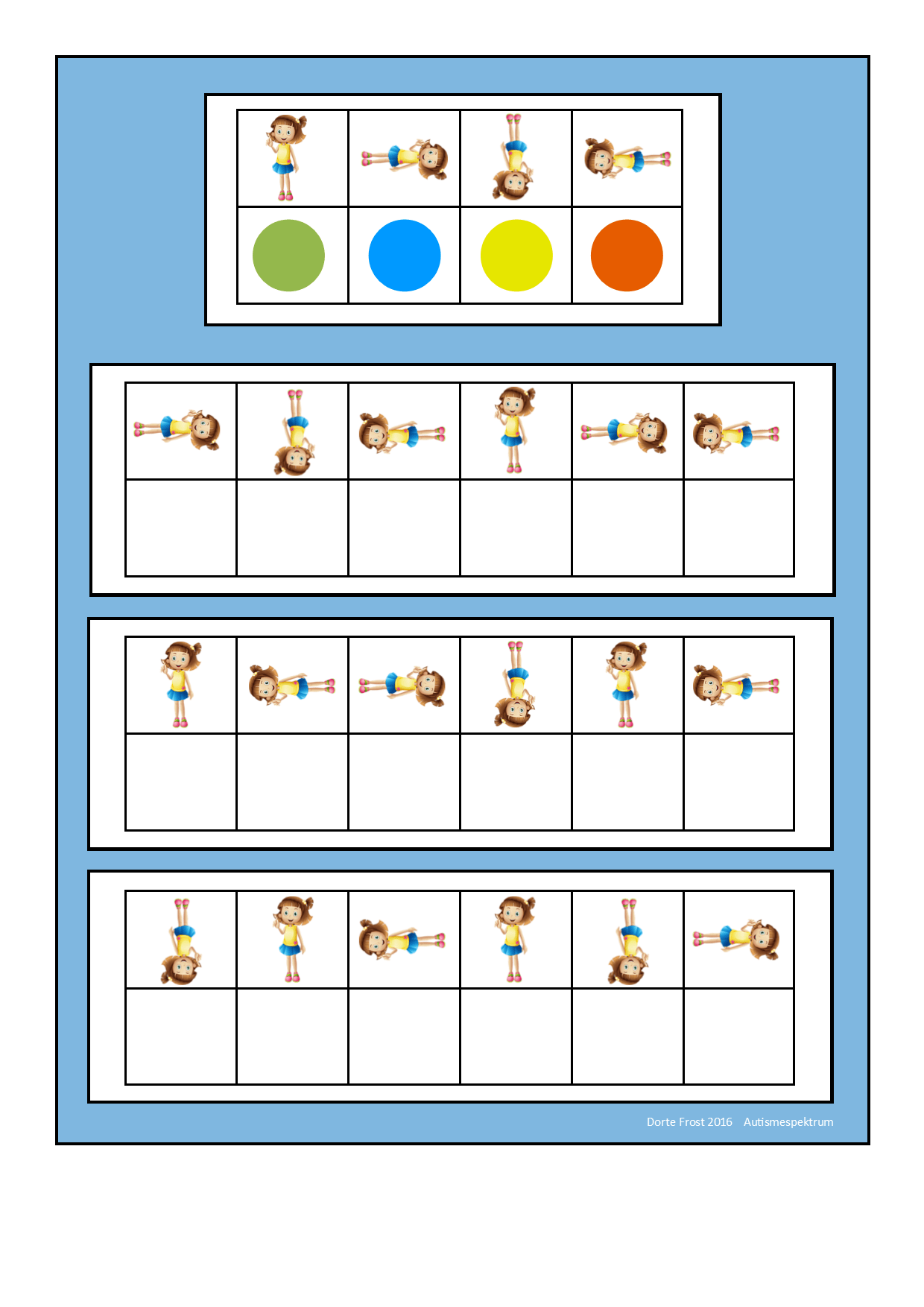 Board For The Rotating Girl Visual Perception Game Find