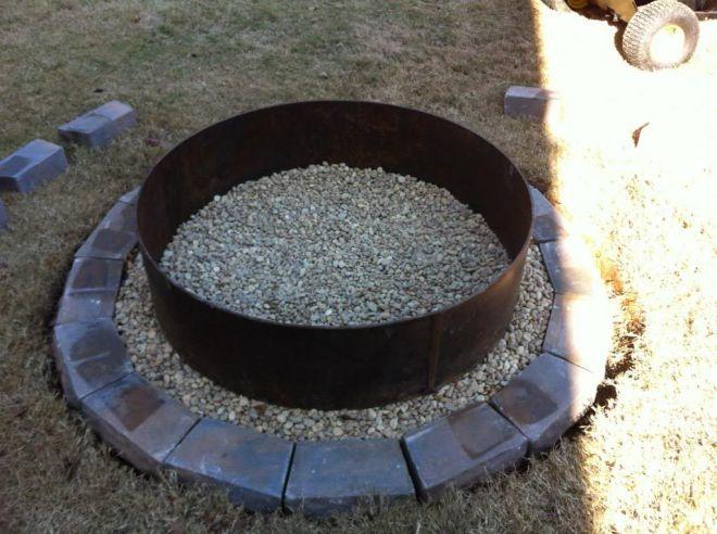 diy steel fire pit ring