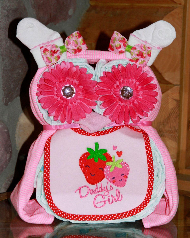 Baby Girl Diaper Owl Diaper Cake