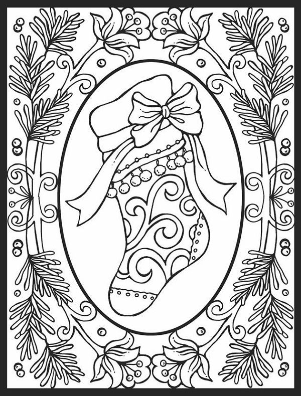 Christmas Coloring Pages For Adults images Coloring