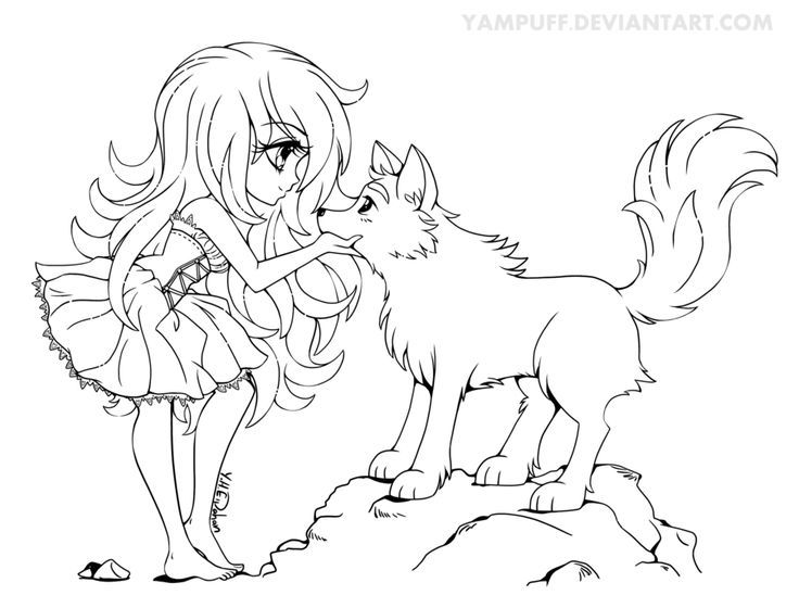 anime wolf anime chibi and coloring pages on pinterest