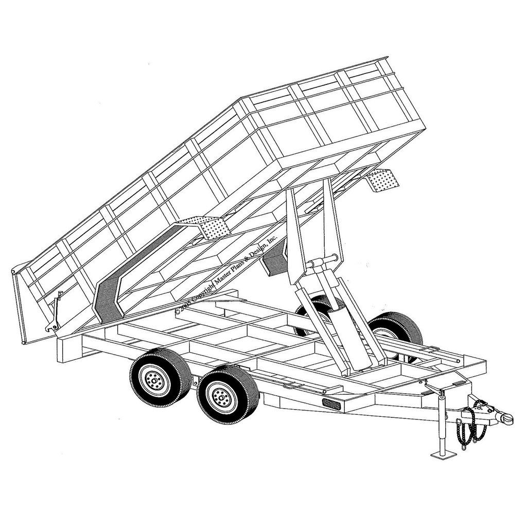 6 4 X 12 Hydraulic Dump Trailer Plans Model 12hd