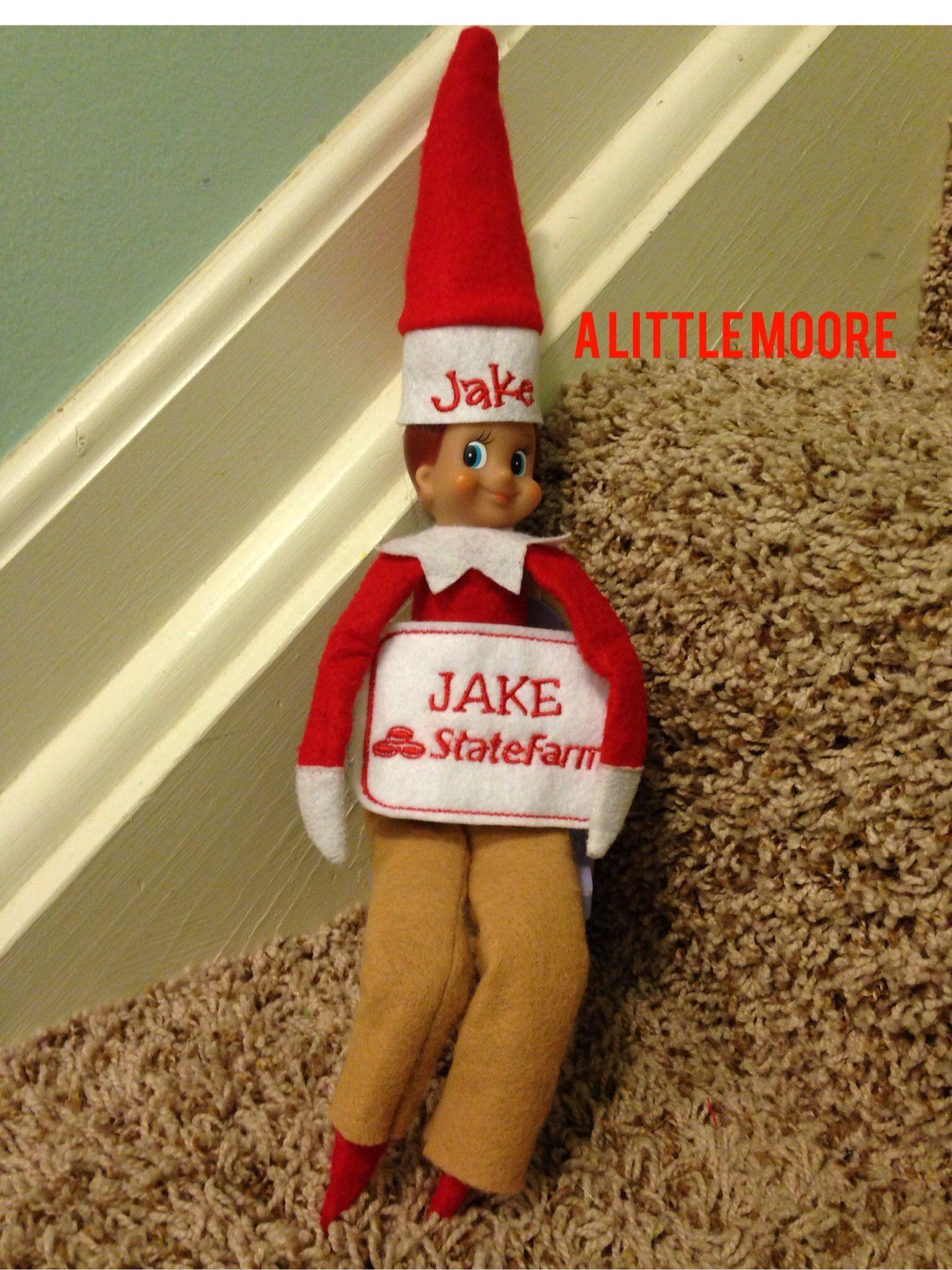 Jake from State Farm elf on the shelf! Elf on the Shelf
