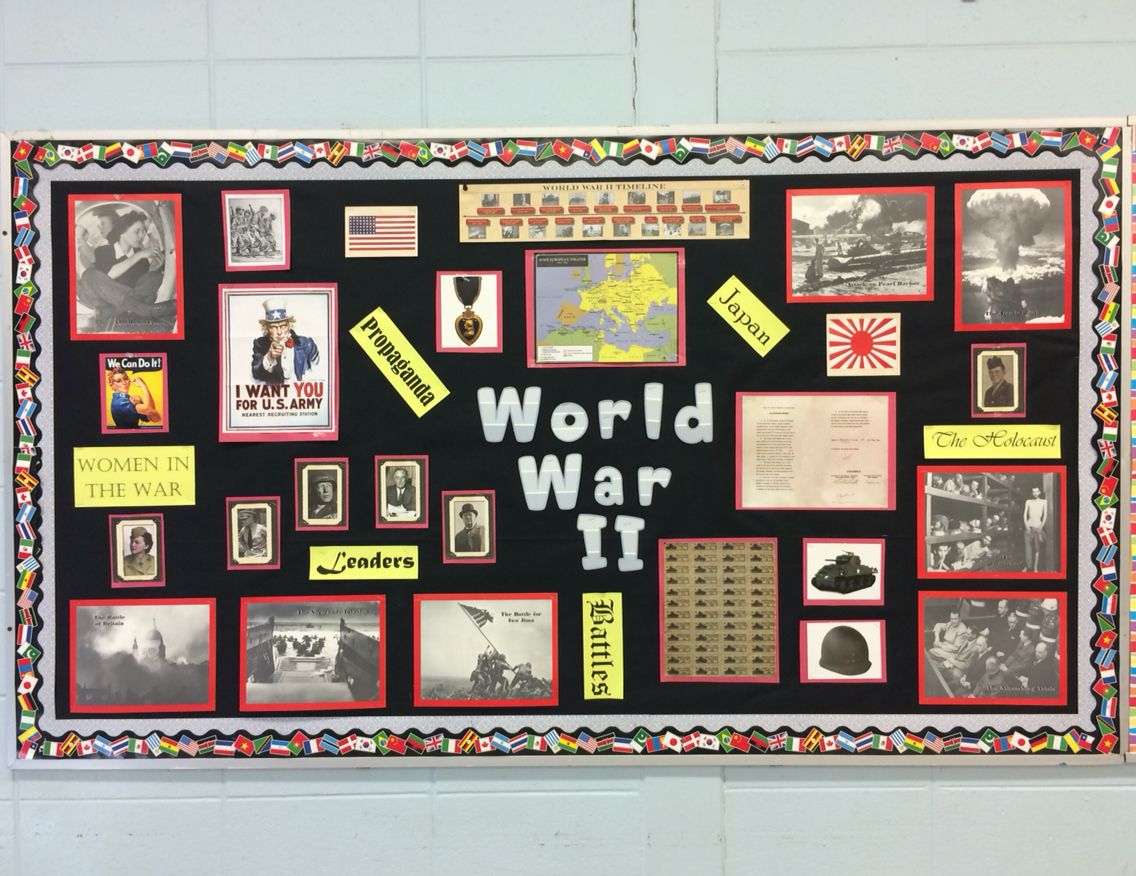 World War Ii Bulletin Board Highschool Bulletinboard