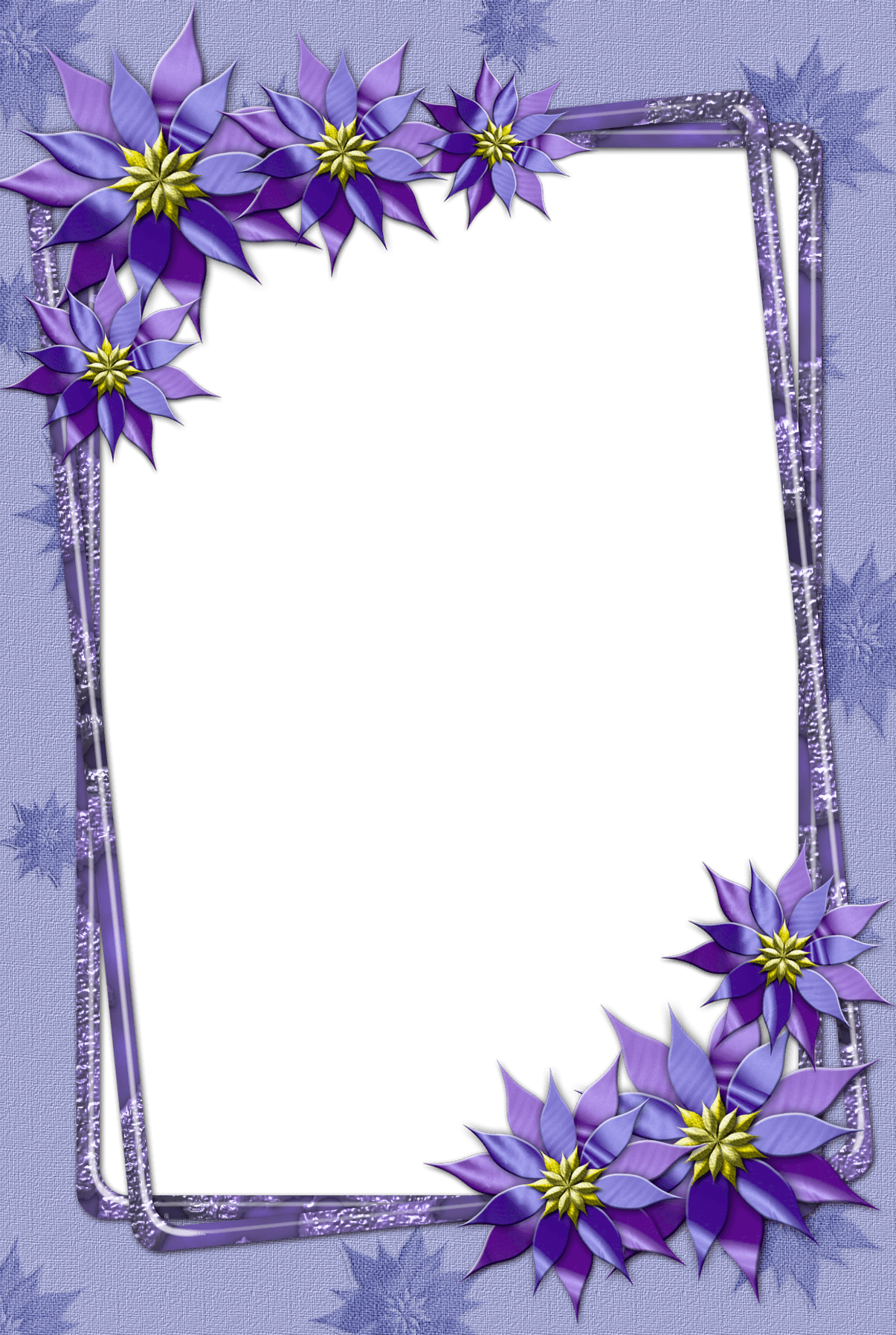 Purple Flower Transparent Frame Rzeczy do kupienia