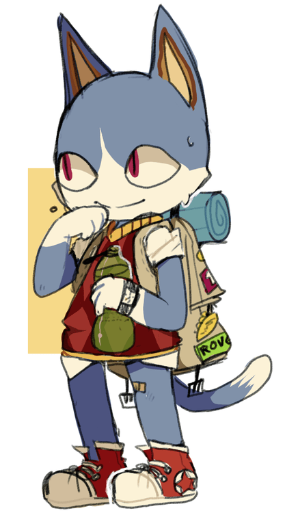 Rover the cat from Animal Crossing (by hibrid56) Animal