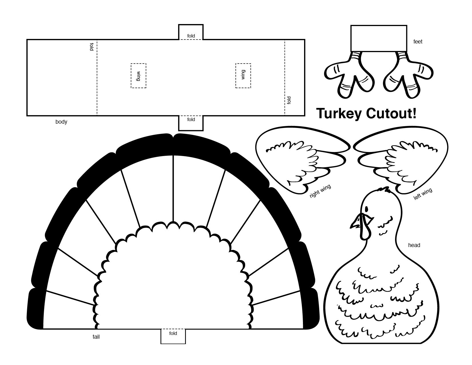 Thanksgiving 3d Turkey Cutout Downloadable Art Project For