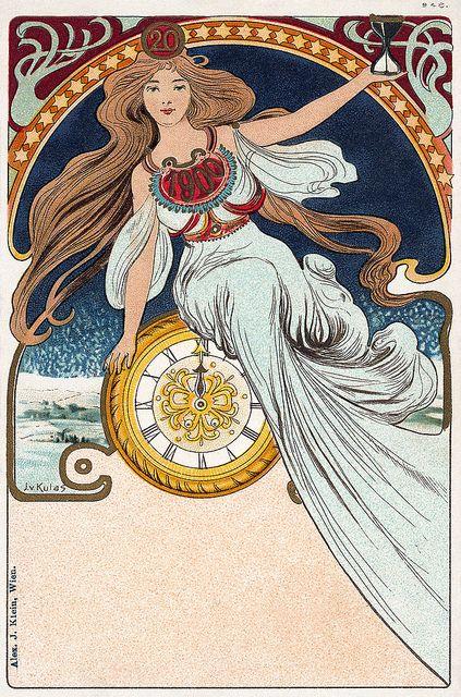 1900 Art Nouveau postcard Vintage, Art deco and Art deco art