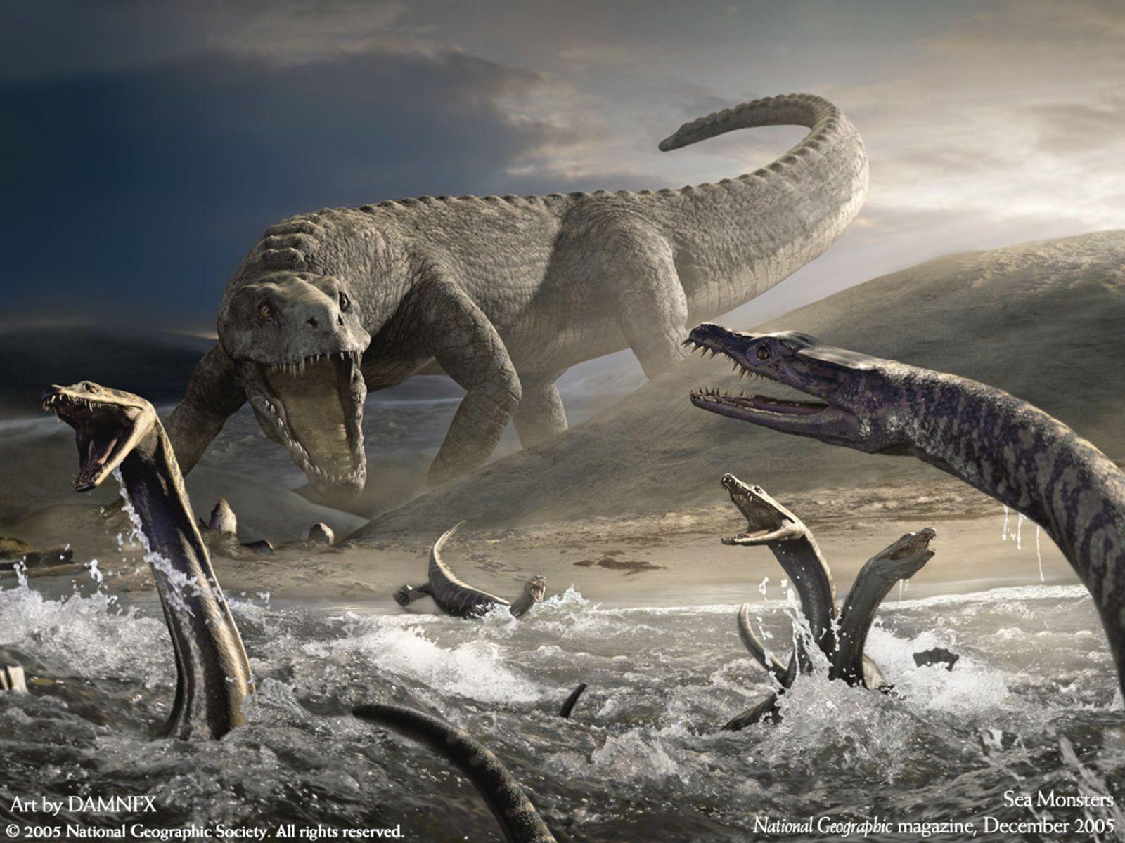 Sea Monsters Fantasy Creatures Wallpaper Image 1600x1200PX