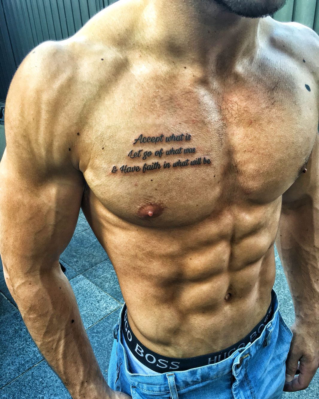Tattoo quote chest … tattoos Pinterest Tattoo