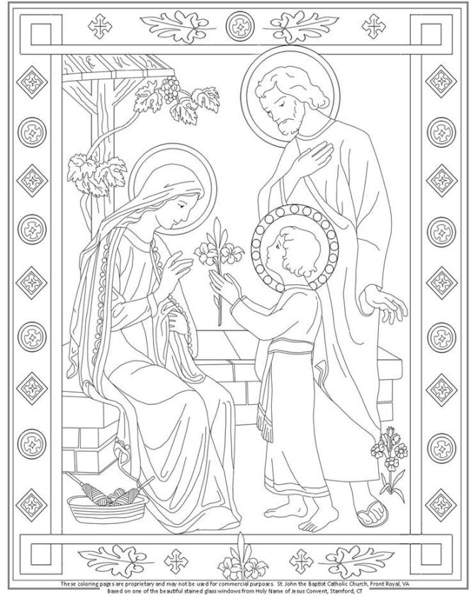 holy family coloring pages | Coloring Page for kids